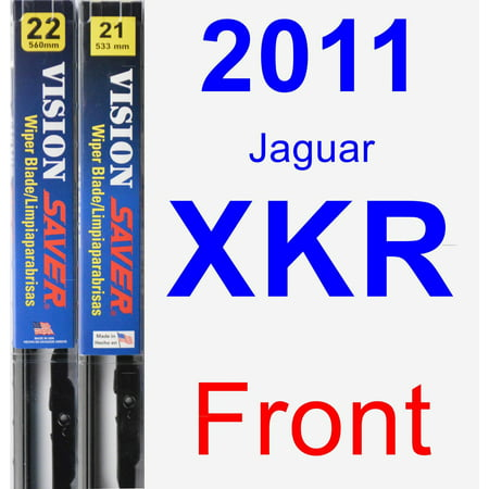 2011 Jaguar XKR Wiper Blade Set/Kit (Front) (2 Blades) - Vision Saver