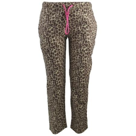 Ladies' Leopard Print Design Fleece Pajama Pants](Custom Design Pajamas)