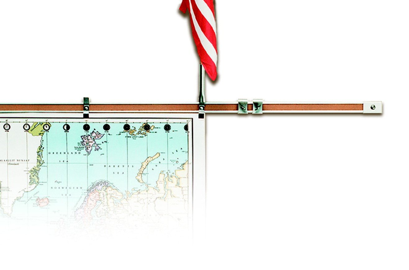 Best Rite Flag Holder For Map Display Rail 1 In Durable Map Rails Turn Any Empty Wall Space Into Instant Display Space By Bestrite Walmart Com Walmart Com