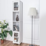 bathroom linen closet. Costway 71  Bathroom Cabinet Wood Tower Tall Shelf Organizer Storage Linen White Cabinets Walmart com