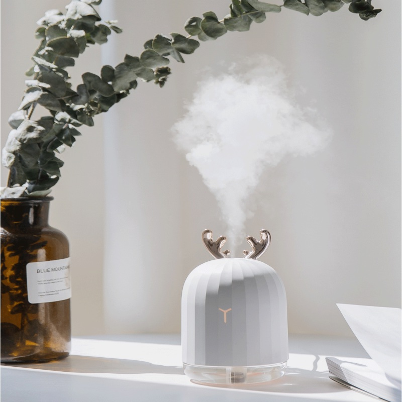 Sawpy 220ml White Deer Mini Air Humidifier Essential Oil Diffuser Aromatherapy Household Ultrasonic Humidifier Usb Diffusers