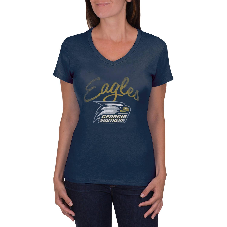 NCAA Georgia Southern Eagles Women's V-Neck Tunic Cotton Tee Shirt