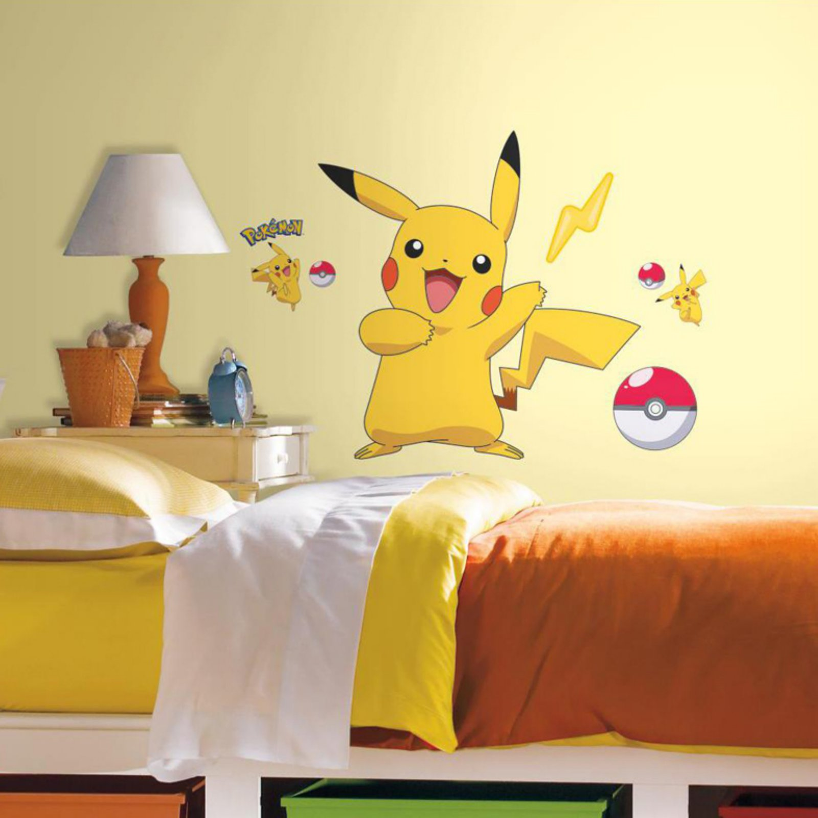 Pokemon Pikachu Peel and Stick Wall Decals - Walmart.com