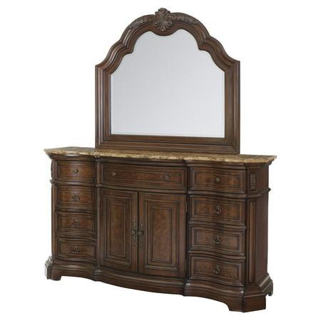 Meridian Cherry - Edington 2-Door 9 Drawer Dresser - European Cherry
