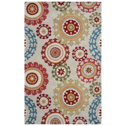 Arden Loft  Hand-tufted Beige MedallionsCrown Way Collection Wool Area Rug (8' x 10')