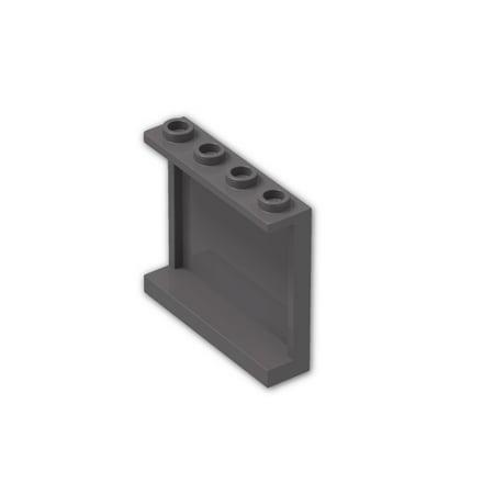 Brick Building Sets Original LEGO® Parts: Panel 1 x 4 x 3  #60581 (Pack of 4pcs) (Dark Bluish Gray) (Jang Bricks L)