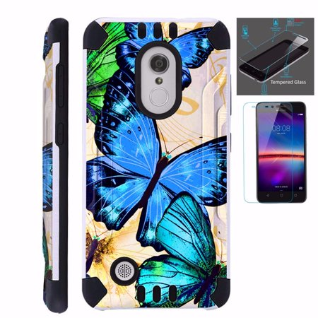 huge discount 460ca 9eb36 For LG Xpression Plus (2018) Case+Tempered Glass Dual Layer Hybrid ...