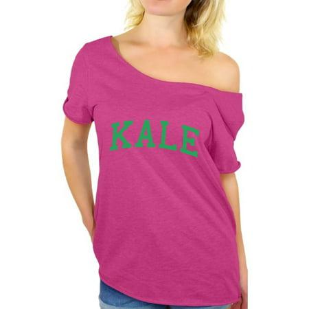 Awkward Styles - Awkward Styles Vegetarian Kale Off Shoulder Shirt Kale T Shirt Vegan Gifts for Vegetarians Veganism Vegetarianism - Walmart.com
