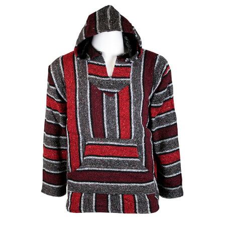 Authentic Mexican Baja Hoodie (Red Soccer Sweatshirt)