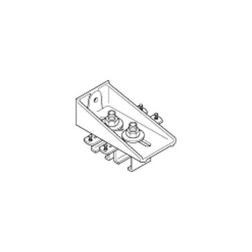 Hafele 941.80.801 Straightaway Lock Joint Bracket for Parallel Wall Mounting Acr