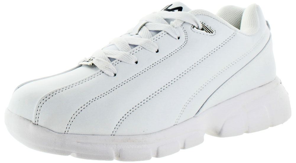 Fila Men's Leverage Lightweight Court Training Sneakers Shoes 90's Retro by