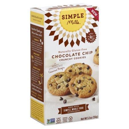 Simple Mills Crunchy Chocolate Chip Cookies, 5.5 OZ