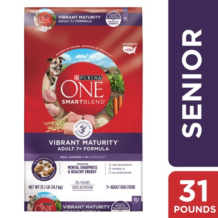 Purina ONE Senior Dry Dog Food, SmartBlend Vibrant Maturity Adult 7+ Formula - 31.1 lb.