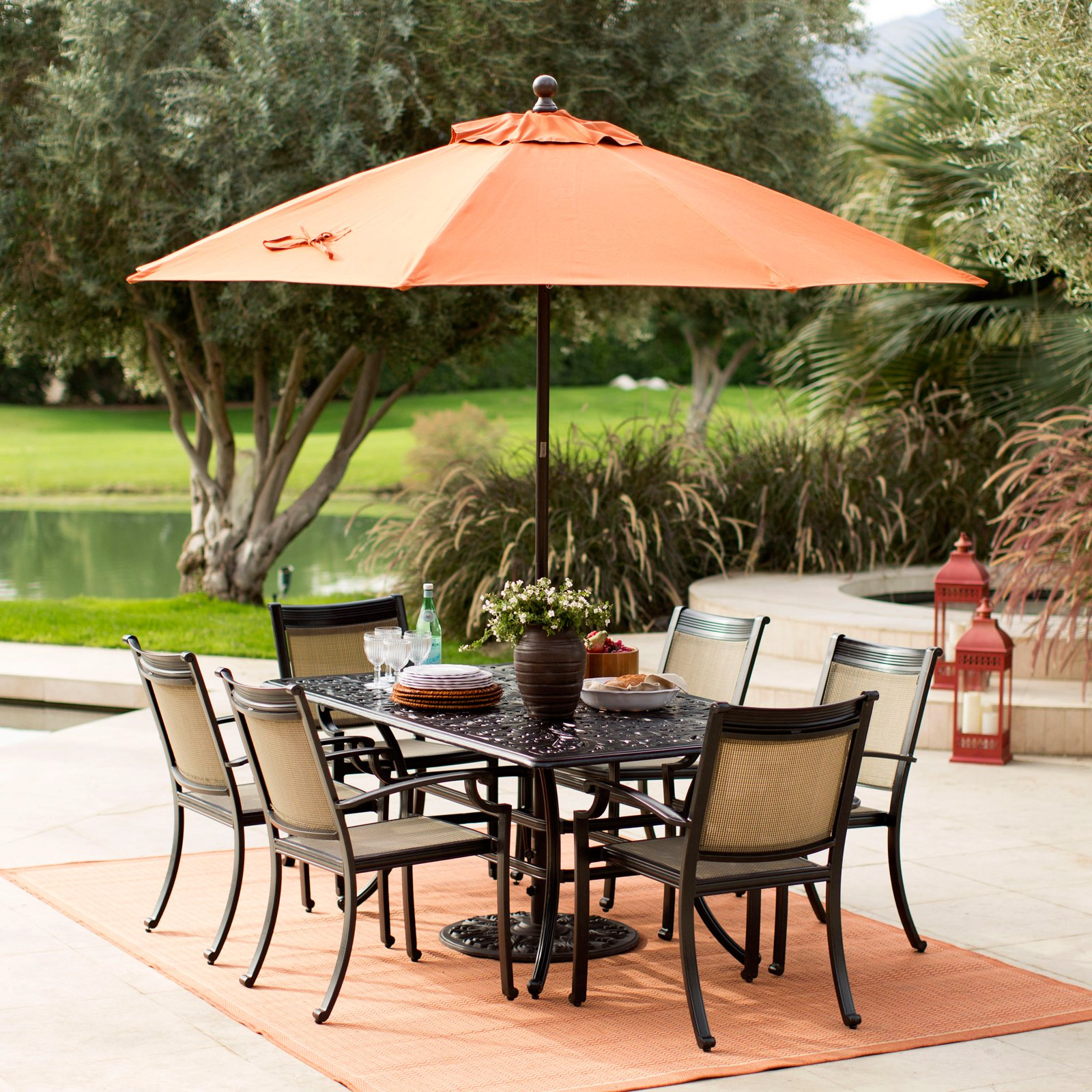 Sunbrella Commercial Grade Aluminum Wind Resistant Patio Umbrella