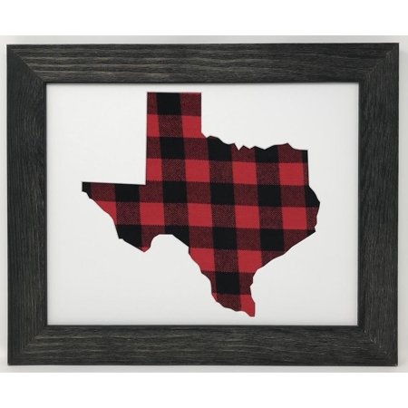 f2f0a6ce038 16x20 Rustic Black Solid Wood Frame With Texas State Opening in Acid ...