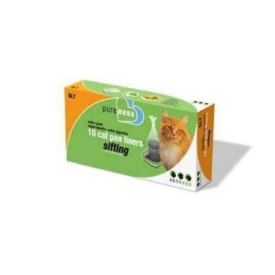 2PK Van Ness Large Cat Pan Sifting Litter Box Liners