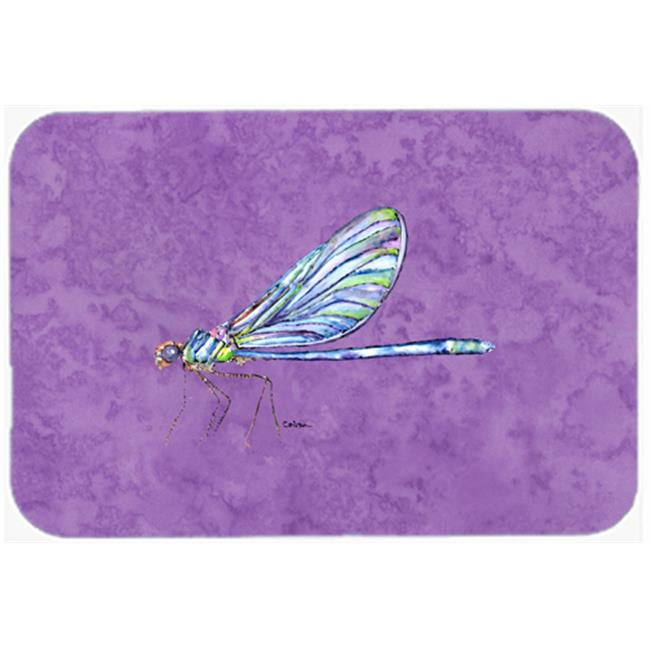 9.5 x 8 in. Dragonfly on Yellow Mouse Pad, Hot Pad or Trivet
