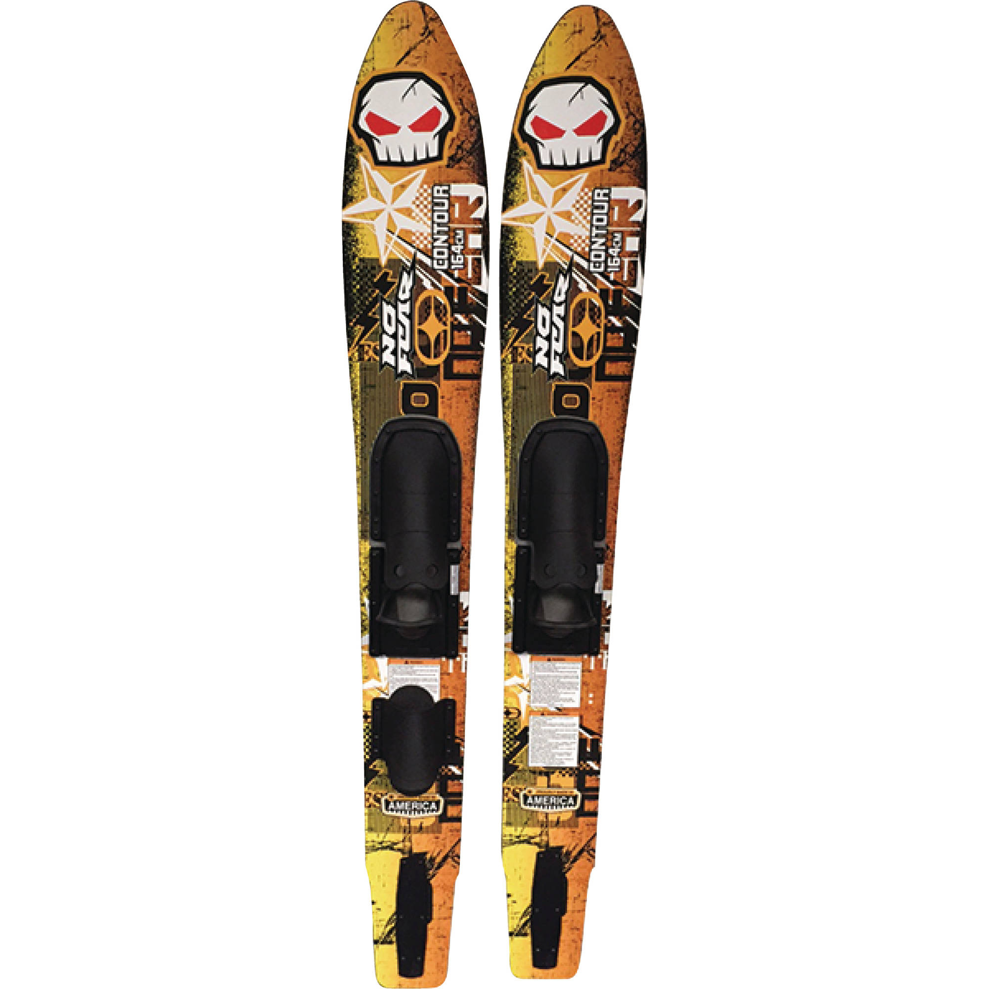 """No Fear NF817 """"Contour"""" Wide Track Skis with Slide Bindings 120 lbs and Up by Nash Sports"""