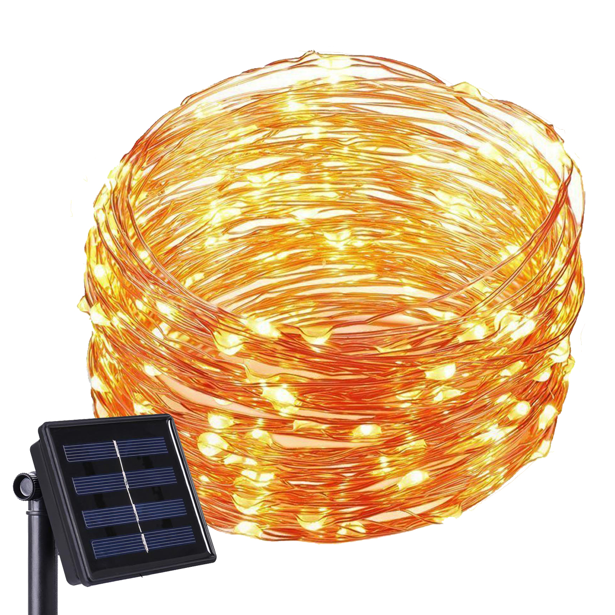 Kohree Solar Powered String Lights 120 LED 20FT Copper Wire Starry String Light Indoor Outdoor Waterproof Decoration