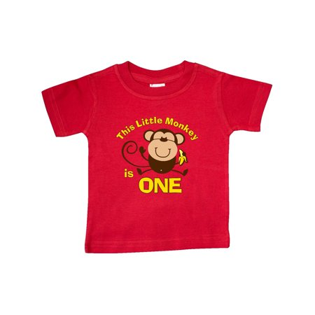Little Monkey 1st Birthday Boy Baby T-Shirt](Little Boys Birthday)