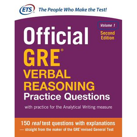 Official GRE Verbal Reasoning Practice Questions, Second Edition, Volume