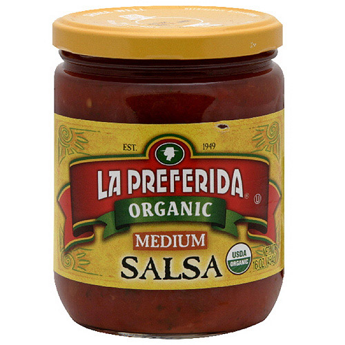 La Preferida Medium Organic Salsa, 16 oz (Pack of 12)