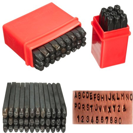 36pcs 4mm New Stamps Letters Alphabet Numbers Set Punch Steel Metal Tool  new - image 6 de 10