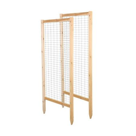 Greenes Fence Critter Guard Garden Wood Lattice Panel Trellis Set (Set of - Wood Lattice Fencing
