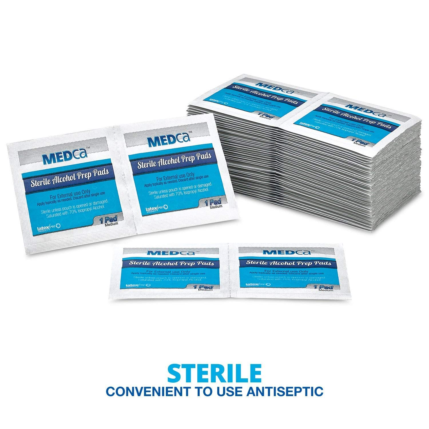 Alcohol Prep Pads - Box of 400, Saturated 70% Isopropyl Alcohol Wipes,  Sterile Antiseptic Wipes Individually Wrapped Moistened Sanitizer Cleaning  Swab