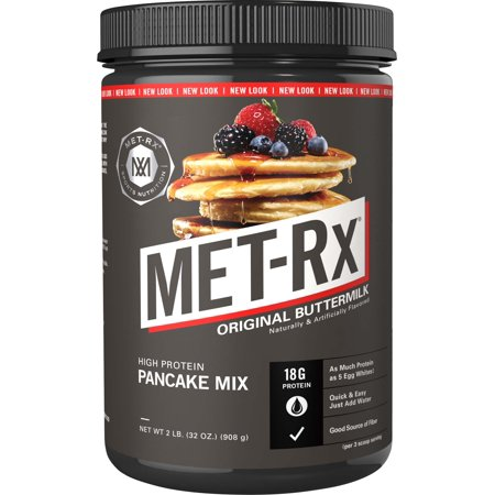 MET-Rx High Protein Pancake Powder, Original Buttermilk 18g Protein, 2