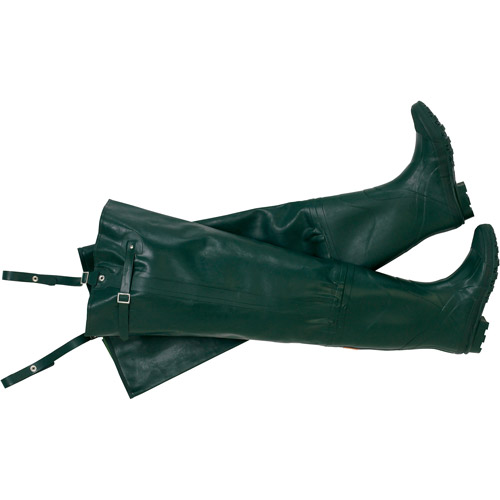 Wenzel Dark Green Rubber Hip Waders Size 8 by Generic