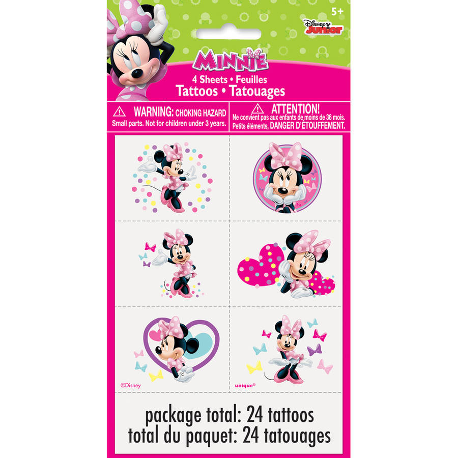 Minnie and Mickey Mouse Tattoo Temporary Party Bag filler choose quantity