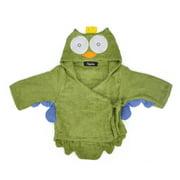 TopTie Animal Hooded Bathrobe, Terry Baby Towel Bath Robe Shower 0-9 months-Owl2-S
