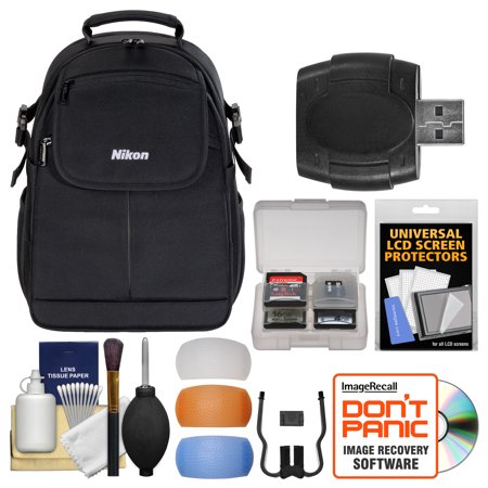 Offer Nikon 17006 Compact DSLR Camera Backpack Case with Diffuser Filter Set + Kit for D3200, D3300, D5300, D5500, D7100, D7200, D610, D750, D810 Before Special Offer Ends
