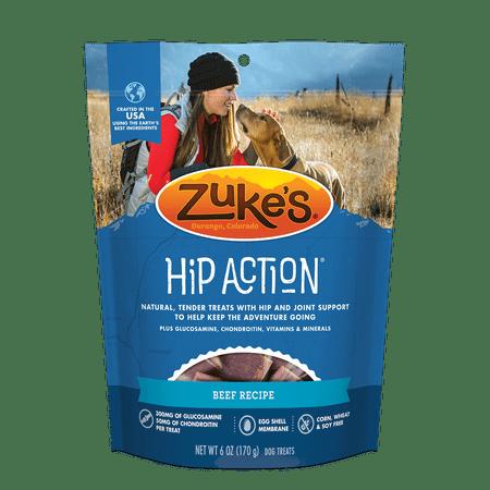 Zuke's Hip Action Roasted Beef Dog Treats, 6 Oz