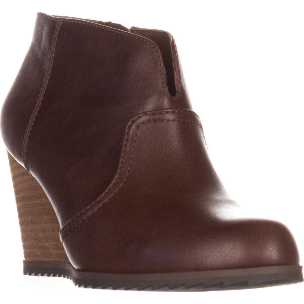 Womens Dr. Sholl's Inform Wedge Ankle Boots, Copper Brown
