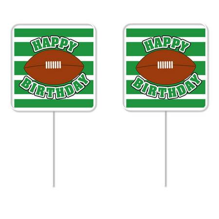 Football Cupcake Picks (Happy Birthday Football Cupcake Picks – 12)