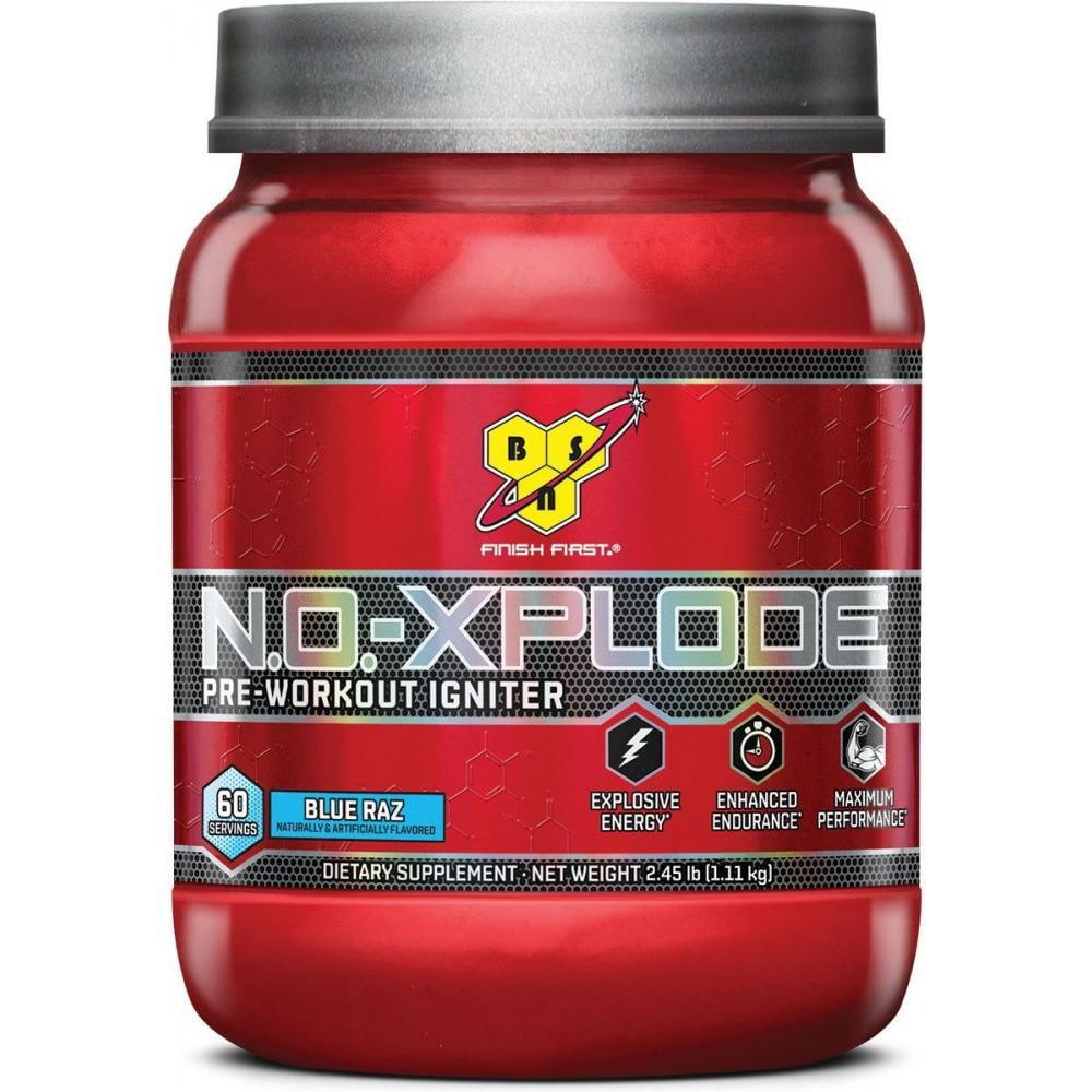 BSN N.O. Xplode, Pre Workout Igniter, Blue Raz, 60 Servings