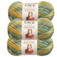 Premier Yarns (3 Pack) Wool-Free Lace Acrylic Blend Soft Yarn for Knitting Crocheting Super Fine #1