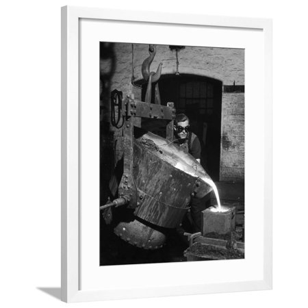 Molten Metal Protection (Pouring Molten Metal Framed Print Wall Art By Heinz Zinram )
