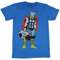 Thor (Marvel Comics) Mens T-Shirt - Thor Toting A Boombox Image