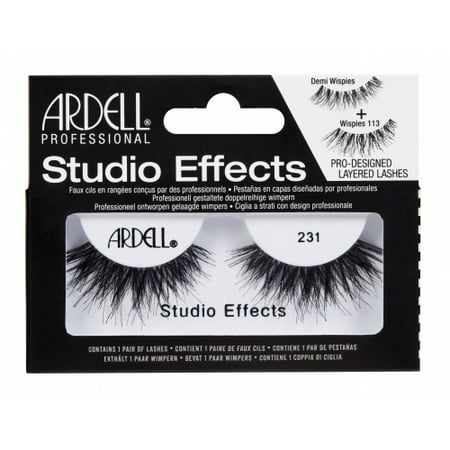 4994eb58950 (3 Pack) ARDELL Studio Effects Lashes - 231 Black - Walmart.com