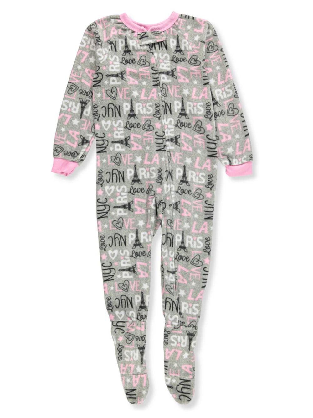 Sweet N Sassy Girls' 1-Piece Footed Pajamas