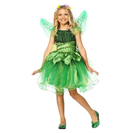 Green Fairy Costumes (Girls Garden Fairy Costume)