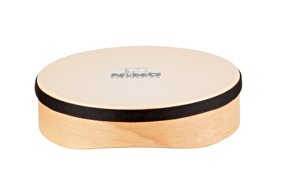 Nino Wood Hand Drum w Synthetic Head Natural 8 in. by Nino