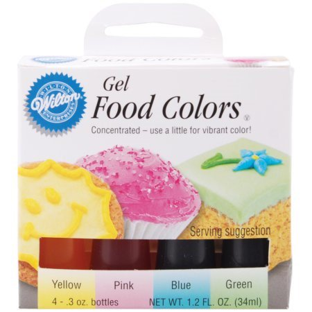 Wilton Gel Food Color Set, Pastel