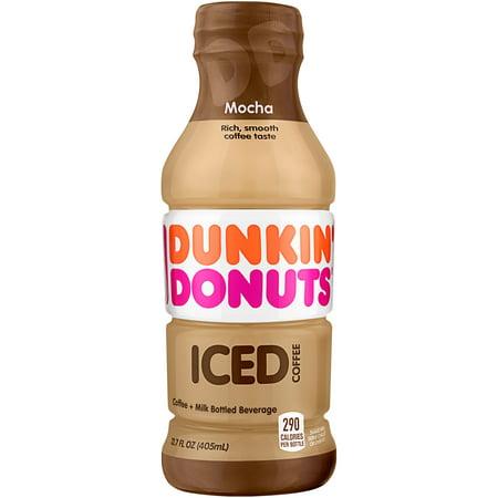 Dunkin Donuts Mocha Iced Coffee 13 7 Fl Oz Bottle