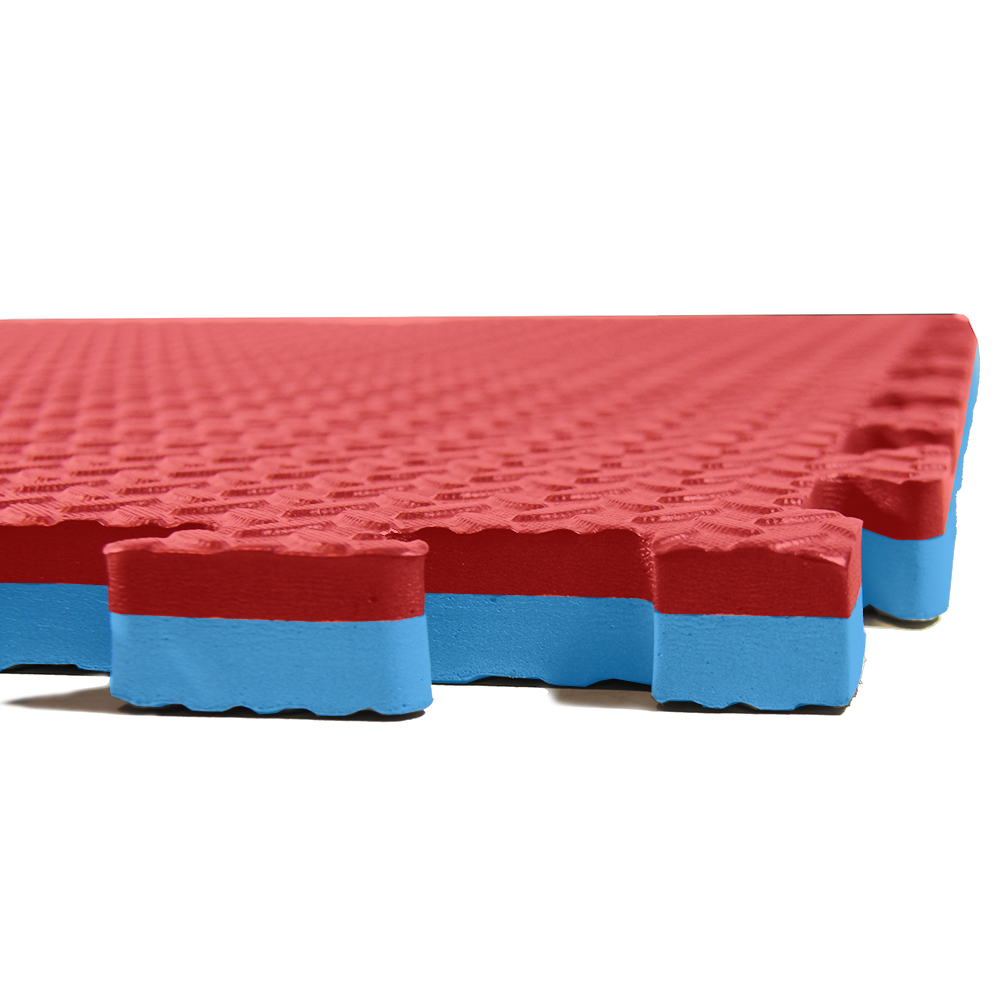 1 Year Limited Warranty Interlocking Gym Foam Floor Mat Tiles | Protective Flooring 24 x 24x .5 12 Pcs Black Clevr 48 sq ft Rubber Top Thick EVA Foam Exercise Mat