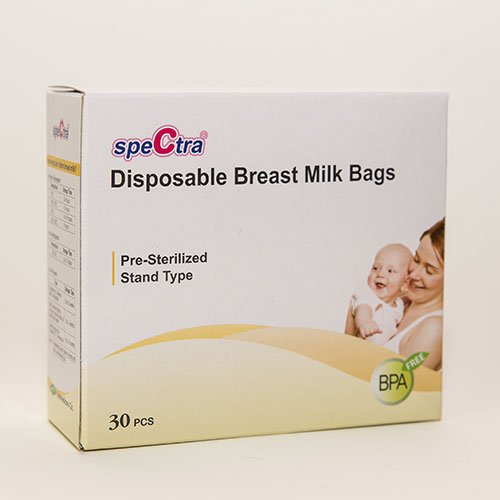 Spectra Baby USA Disposable Presterilized Breast Milk Bags, 30-Count