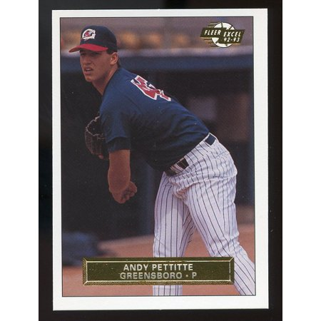 Andy Pettitte Baseball Card - 1992-93 excel #214 ANDY PETTITTE new york yankees minor league ROOKIE card